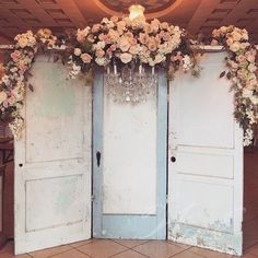 Rustic doors #winkevents #winkwedding #winkedout #wedding #design #decor…