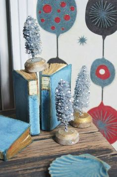 ... Christmas?      I wasworking a little Christmas scene and wanted to use little bottle brush Christmas trees. Of course I didn'...