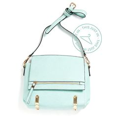 "stitchfix: ""We're partial to mint at #StitchFix, but isn't this structured bag stunning? It's so rare to find a brightly colored satchel within budget. #ThisJustIn (Skyline Crossbody Bag)"""