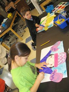 Jamestown Elementary Art Blog: Kindergarten Winter Portraits