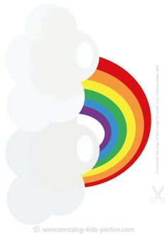 You'll find lots of Fun & Free Printable Rainbow Decorations and Cards at www.amazing-kids-birthday-party-ideas.com/kids-party.html
