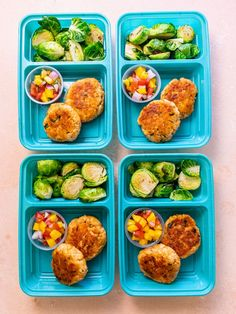 Crispy Salmon Cakes with Mango Salsa Paleo Meal Prep, Lunch Meal Prep, Easy Meal Prep, Meal Preparation, Keto Meal, Lunch Recipes, Healthy Dinner Recipes, Keto Recipes, Healthy Food