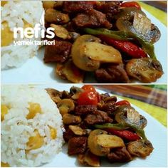 Mantarlı Et Sote My Favorite Food, Favorite Recipes, Kung Pao Chicken, Beef, Ethnic Recipes, Fitness, Fungi, Easy Meals, Food Food