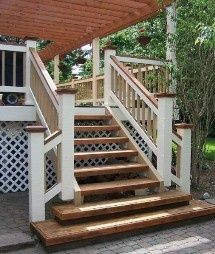 Deck Skirting Ideas - Exactly just what is deck skirting exactly? Deck skirting is a material connected to support post and boards listed here a deck . Deck Canopy, Backyard Canopy, Canopy Outdoor, Window Canopy, Canopy Curtains, Fabric Canopy, Deck Steps, Porch Steps, Outdoor Steps