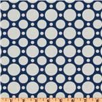 Crazy for Dots & Stripes Large Dot Navy/White