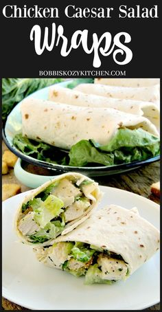 Chicken Caesar Salad Wraps are a quick and easy way to enjoy your favorite salad with no fork needed.bobbiskozykit… Chicken Caesar Salad Wraps are a quick and easy way to enjoy your favorite salad with no fork needed. What Is Healthy Food, Healthy Foods To Make, Healthy Food Habits, Good Healthy Recipes, Dinner Healthy, Healthy Weight, Caesar Salad, Chicken Ceasar Salad, Chicken Caesar Wrap