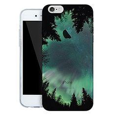 iPhone 6s ケース / iPhone 6 ケース 4.7 inches Vandot 0.5MM 超薄型ライトTPUシリコンバンパー  ハードPC半透明保護 バック ケース[落下防止] [衝撃吸収] 3D HD プリント風景シェルオーロラ