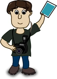 Image for comic characters photographer people clip art