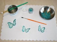 Gelatin butterfly tutorial.