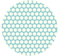 Jay-Cyn Designs for Birch Fabrics, Mod Basics, Organic, Dottie Cream Pool
