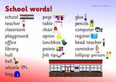 Ned. versie!!! School word mat (SB5541) - SparkleBox