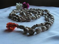 Hindu prayer beads.