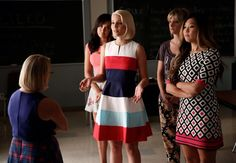 "Quinn, Santana, Brittany and Tina confront Becky in the ""Jagged Little Tapestry"" episode"