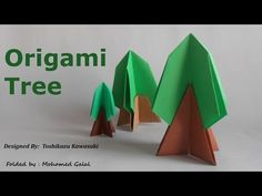 Easy Origami Tree - YouTube