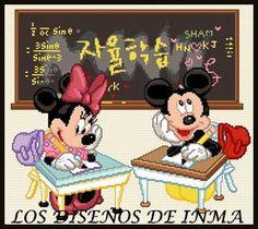 PDF Gráfico Punto de Cruz, Disney 54, Disney Punto de Cruz, Disney, Disney Cross Stitch Pattern