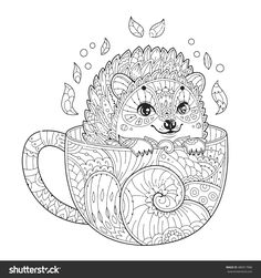 Cute Kitten Coloring Page