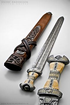 Viking sword by André Andersson Custom Damascus Knives - Knives, Daggers, Swords and Artknives from Sweden.