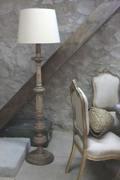 French country floor lamp foter creativity pinterest floor una antigua lmpara con pi de madera restaurada aloadofball Gallery
