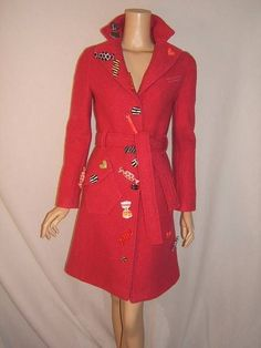 MOSCHINO Womens 6 SEXY VERY RARE 1980's PINK CANDY TIME Coat Vintage Wool Jacket #Moschino #BasicJacket