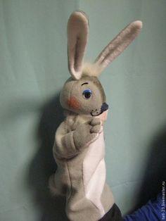 Кукольный театр ручной работы. Ярмарка Мастеров - ручная работа Театральная перчаточная кукла Зайка. Handmade.