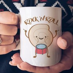 Rock 'N Roll  Funny  Coffee Mug by IdeasByArianna on Etsy