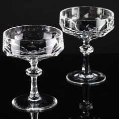 2 Vintage Sektschalen Nachtmann Bleikristall Sektgläser Gläser Alexandra F