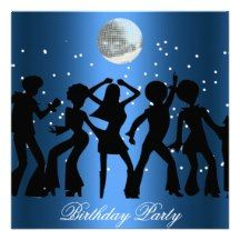 Disco 70's Birthday Party Invitation