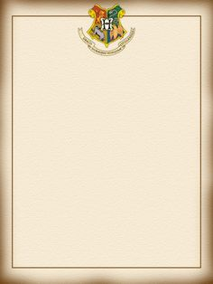 "Hogwarts letter - Harry Potter - Project Life Journal Card - Scrapbooking ~~~~~~~~~ Size: 3x4"" @ 300 dpi. This card is **Personal use only - NOT for sale/resale** Harry Potter/Hogwarts belong to JK Rowling/Warner Bros. Crest from harrypotter.wikia.com *** Click through to photobucket for more versions of this card ***"