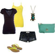 Yellow & Teal summer