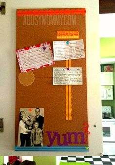 How To Make A Recipe Board for inside your cupboard door.