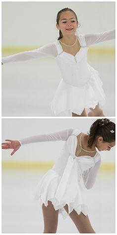 White ice skating dress by iSkatewear