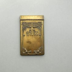 Art Nouveau Notebook.  Germany. Floral. Stamped Brass. by pinguim, $80.00