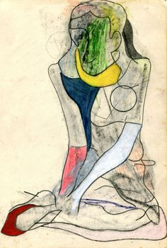 Jason Brinkerhoff  Untitled, 2011, Graphite, coloured pencil and wax pastel on paper