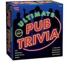 Make it the best game night ever with the fun and challenging Ultimate Pub Trivia Game. This game lets you play against teams and features questions covering 6 different topics such as pop culture, technology and history. Family Fun Games, Couple Games, Family Game Night, Night Couple, Adult Fun, Adult Games, Wedding Games, Wedding Humor, Trivia Games Online