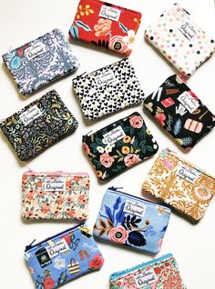 Coin Pouch Colorful Strips Canvas Coin Purse Cellphone Card Bag With Handle And Zipper
