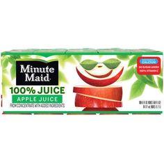 Minute Maid 100% Apple Juice, 6 Fl. Oz., 10 Count