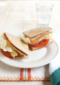 Turn a classic quesadilla into a Quesadilla Sandwich and get your kids to eat more veggies at the same time. The hot & cold makes an irresistible combo.