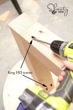 Jet Woodworking Tools, Woodworking Projects Diy, Kreg Jig Projects, Diy Projects, Building Furniture, Diy Furniture, Kreg Screws, Diy Cornhole Boards, Shanty 2 Chic