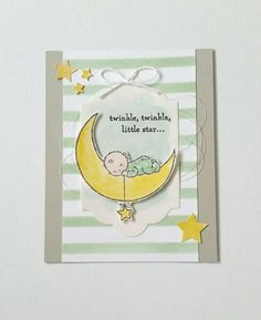 Another card using Stampin'up's Moon Baby set. Love!