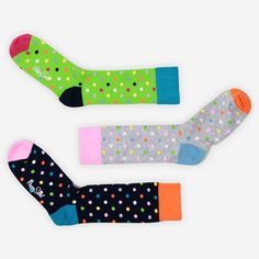 Socks Multi Dots 3 Pack III now featured on Fab.