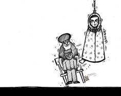 #كاريكاتير : ريحانه جباري #Iran #Caricature #Cartoon #saraqaed