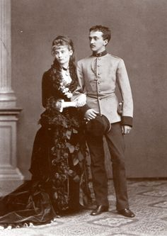 Princess Elisabeth of Thurn and Taxis, the daughter of Duchess Helene in Bavaria, sister of Empress Elisabeth, with her husband, Miguel, Duke of Braganza, son of the King of Portugal