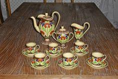Antik Kaffeservis i Jugend från Wedgwood