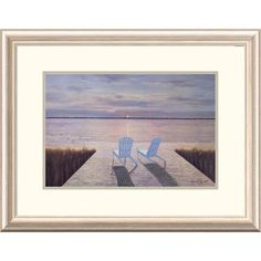 Global Gallery 'Coastal Idle Hour' by Diane Romanello Framed Painting Print Size: 2
