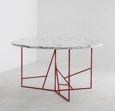 #table #carrara marmol # redsteelbase