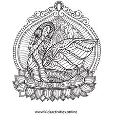 Free Coloring Pages For Adults - Flower, Mandala ⋆ Kids Activities Teddy Bear Coloring Pages, Rose Coloring Pages, Mothers Day Coloring Pages, Skull Coloring Pages, Spring Coloring Pages, Mandala Coloring Pages, Free Coloring, Coloring Books, Simple Paper Flower