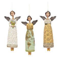Peace on Earth Angel Ornaments