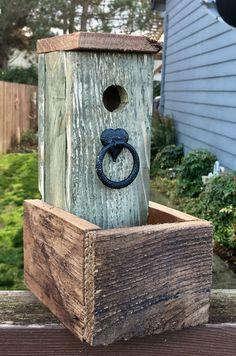 Rustic Planter Bird House