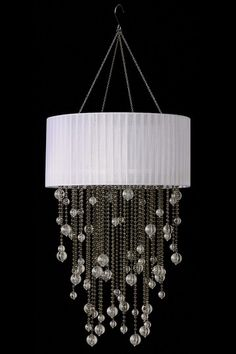 All That Shimmers Lighting  Round Short Raining Steel Chandelier