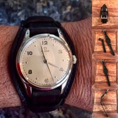 Another happy client of 922Leather.com with custom Horween Chromexcel bund strap for vintage Omega. #leatherwatchstrap #horween #vintagewatch #womw #omegawatches #vintageomega